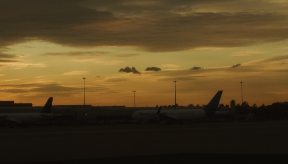 Evening light, Manchester airport, 26/9/11res