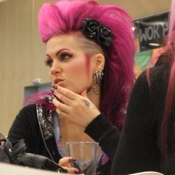Pink haired woman , 30/9/11