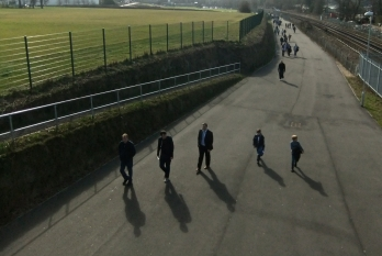 Approach to the Amex stadium, 10/3/12
