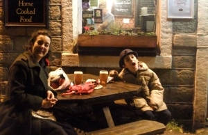 Clare and Joe at Stubbings Wharf pub, 1/1/12