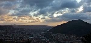 Bergen from Mount Fløyen, 28-11-11