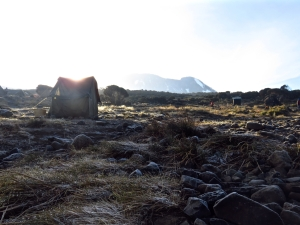 Frosty morning, Shira Camp, 30/7/15