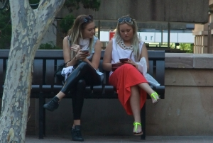 Girls on bench, 4/5/13