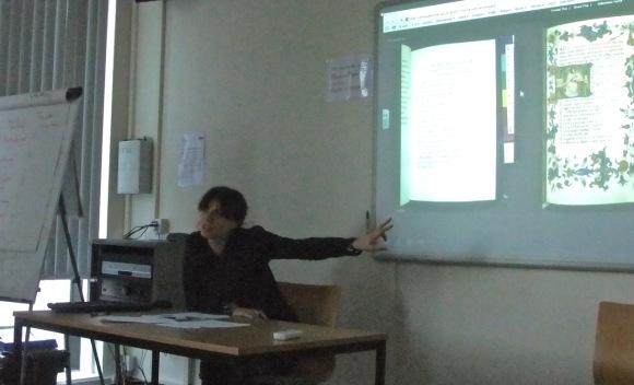 Guyda presenting at the seminar, 6/10/11