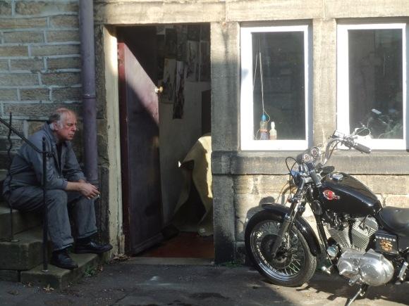 Richard and bike, 15/10/11
