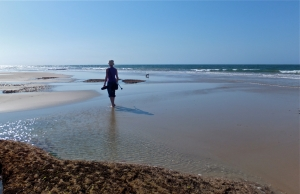 Sharon, on Torquay Beach, 15/2/13