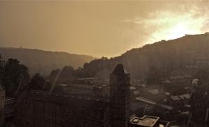 Sunset rainstorm, 13/9/11