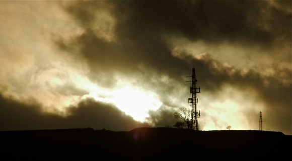 Phone mast, Hebden Bridge, 28/12/11