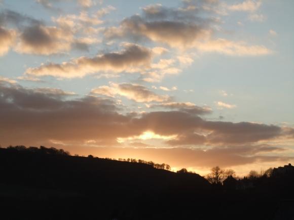 HB sunset., 1/2/12