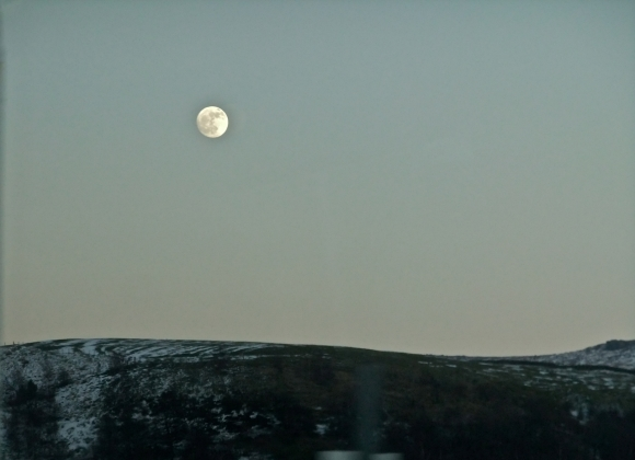 Full moon from train, 6/2/12