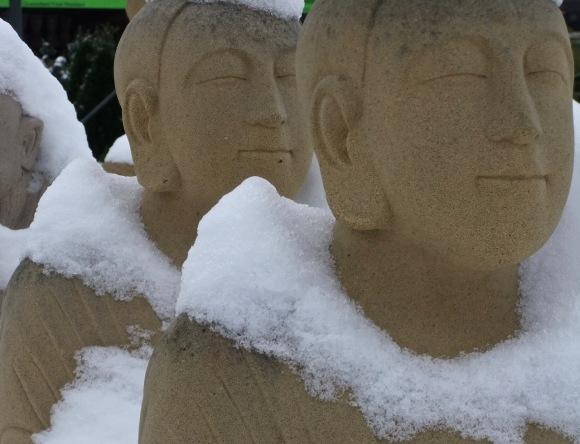 Snowy buddhas, 5/2/12