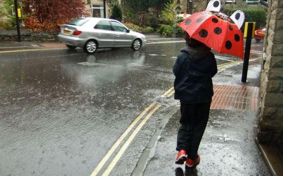 Joe in rain, 26/4/12