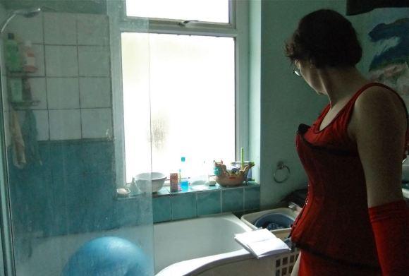 Clare, bathroom, 6/5/12