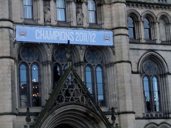 Manchester City banner, 15/5/12