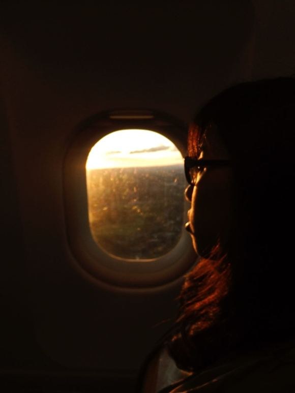 Chinese girl on plane, 28/6/12