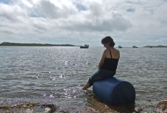 Clare at Ravenglass, 21/8/12