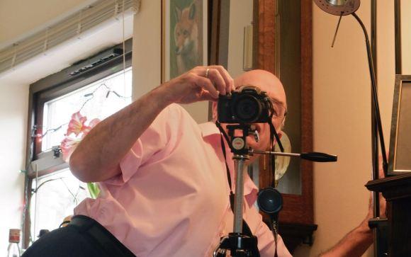 Dad behind camera, 23/12/12