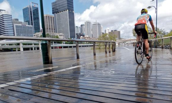 Brisbane River boardwalk, 28/1/13