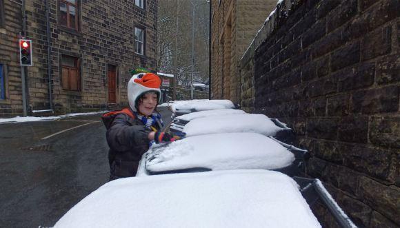 Gethering snow, 19/1/13