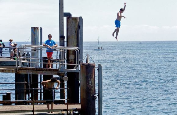 Jetty jumping, 9/2/13