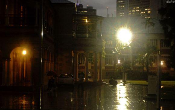 Rainy evening, QUT, 13/4/13