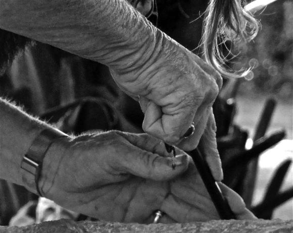 Sculptress' hands, 20/4/13