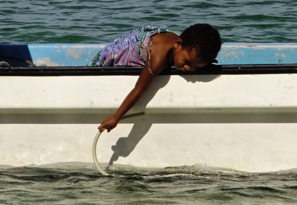 Child on boat, 23/5/13