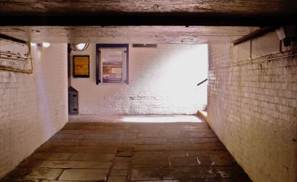 Hebden station subway, 6/7/13