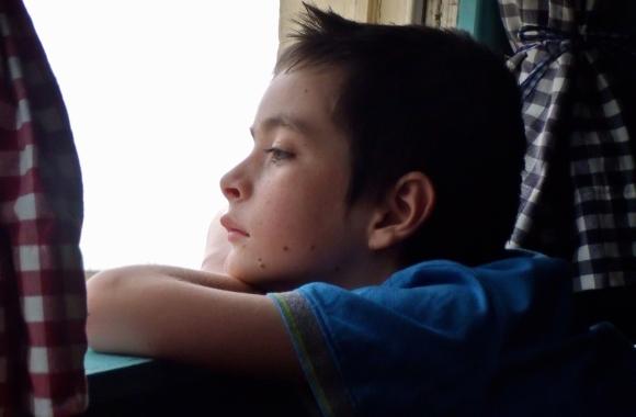 Joe, hotel window, 25/7/13