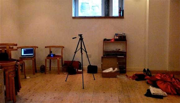 Studio, before filming, 13/8/13