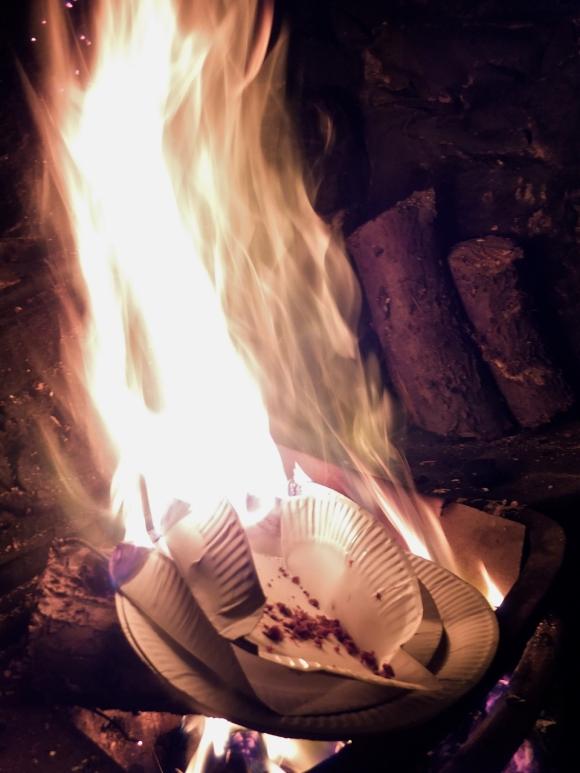 Burning the plates, 6/11/13