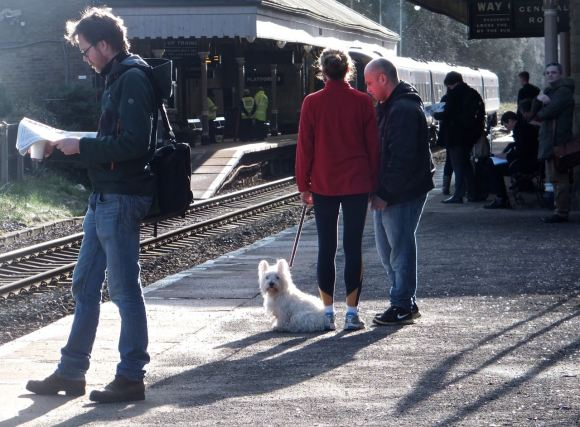 Waiting for train, 10/3/14
