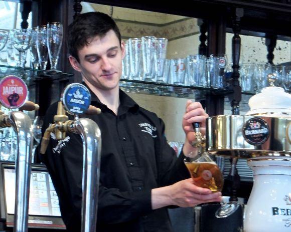 Barman, Sheffield Tap, 25/4/14
