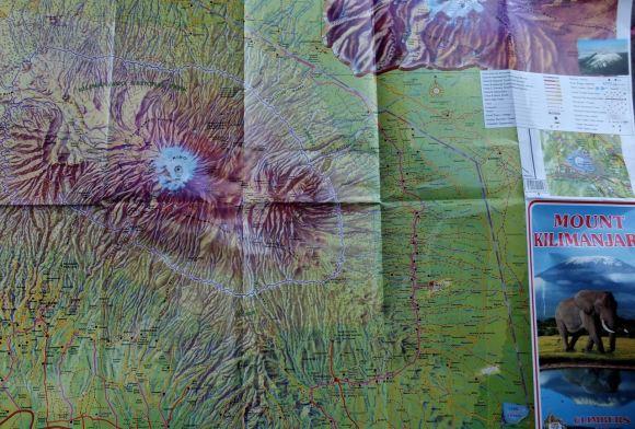 Kilimanjaro map, 9/7/14