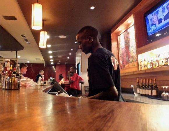 Nairobi airport bar, 11/7/14