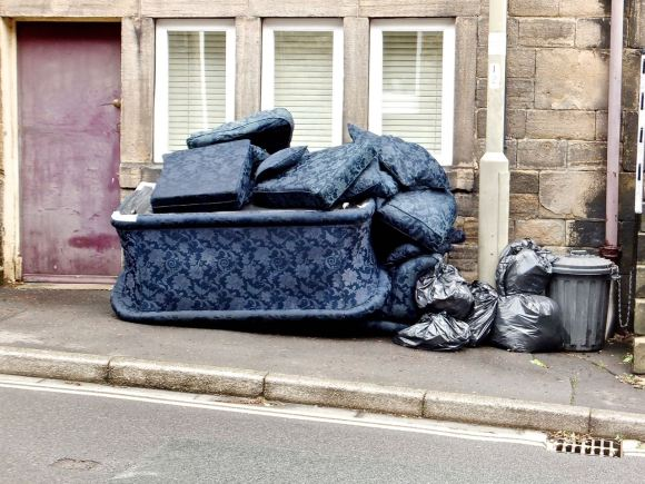 Bins and sofa, 21/8/14