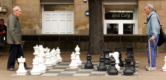 Giant chess, 3/9/14