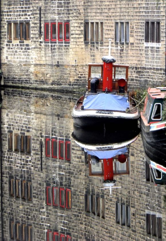 Canal reflections, 4/12/14