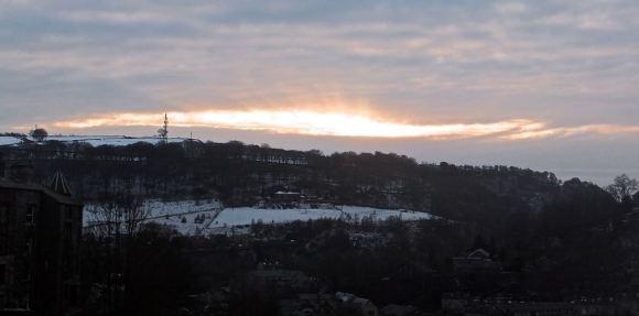 Snowy sunset, 20/1/15