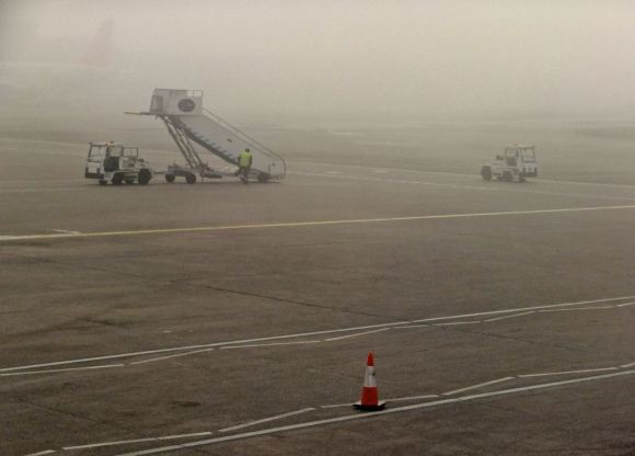 Foggy airport, 18/3/15