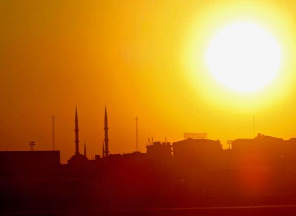 Minarets at sunset, 25/7/15