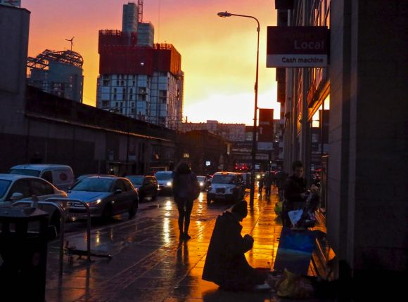 Sunset, Whitworth Street, 6/11/15