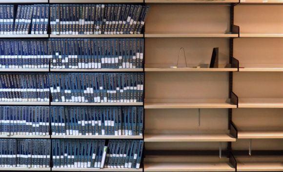 Library shelves, 3/12/15