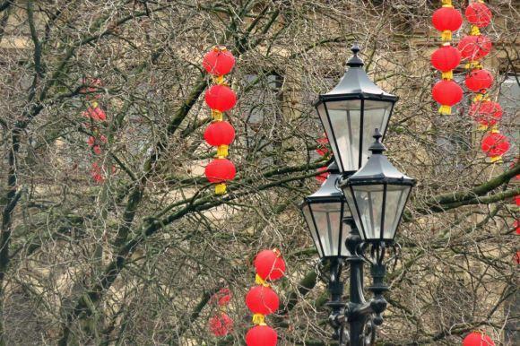 Chinese lanterns, Albert Square, 25/1/16