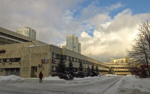 Moscow School, snow, 16/1/17