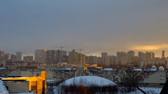 Moscow skyline, 20/1/17