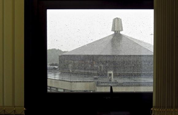 Rain from office, 5/9/17