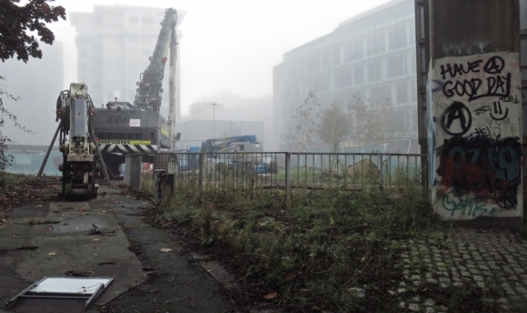 Misty building site, 27/10/17