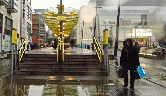 Rainy tram stop, 20/10/17