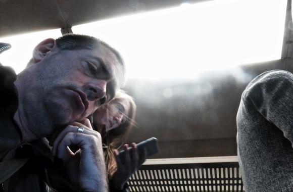 Selfie on train, 11/10/17